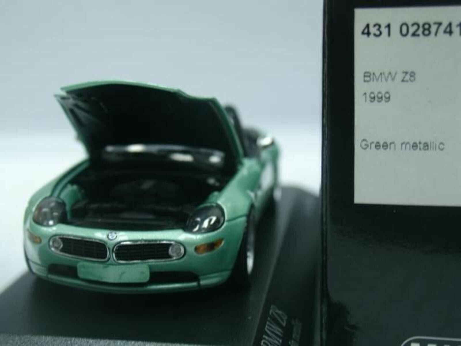 WOW EXTREMELY RARE BMW Z8 4.9 Roadster 32V 1999 Green 1 43 Minichamps-Z3 M3 GTR