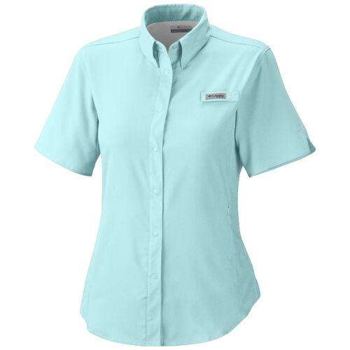 """New Womens Columbia PFG /""""Tamiami/"""" Omni-Shade Wick Vented Fishing Shirt"""