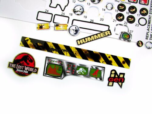 Replacement Stickers for Kenner JURASSIC PARK Lost World Humvee Pre-cut!!!