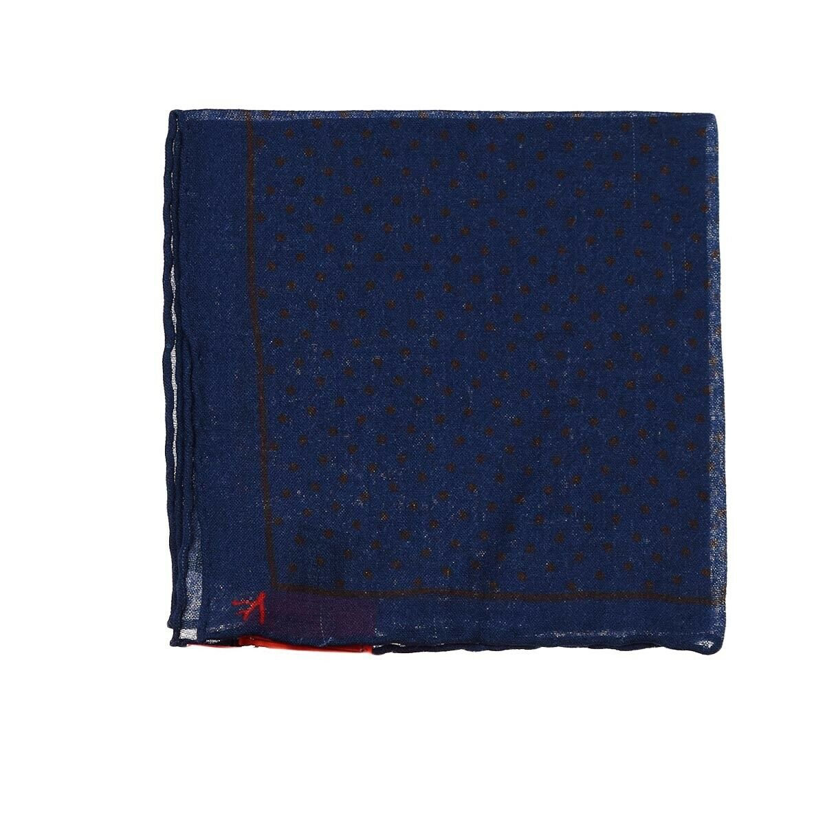 NEW ISAIA POCKET SQUARE 100% WOOL LITTLE IMPERFECTION 11.5