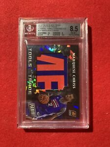 2016 Panini Black Friday Marquese Chriss RC Material Cracked Ice 4/25 BGS 8.5