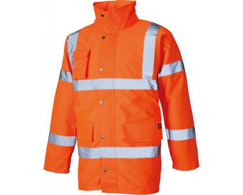 Dickies High Visibility Motorway Jacket Class 3 EN471 Size M-XXL Orange//Yellow