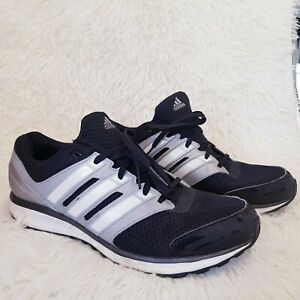 Adidas Run Forte Baskets Homme Noir Gris UK 12 Running Jogging Gym adiWEAR