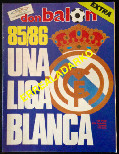 DON BALON EXTRA FUTBOL REAL MADRID 85-86 UNA LIGA BLANCA
