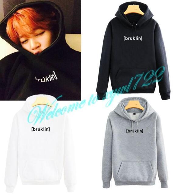 Kpop BTS JUNG KOOK Hoodie Cap Warm Sweater Bangtan Boys Unisex Pullover Hoodie