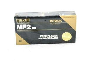 Maxell-15-Pack-NEW-MF2-HD-High-Density-Micro-Floppy-Disk-3-5-034-Super-RD-Series