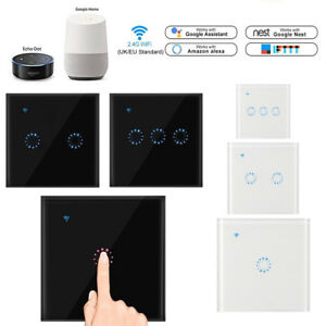 Details about New Smart Wifi Touch Panel Wall Switch For Ewelink Alexa  Google Assistant