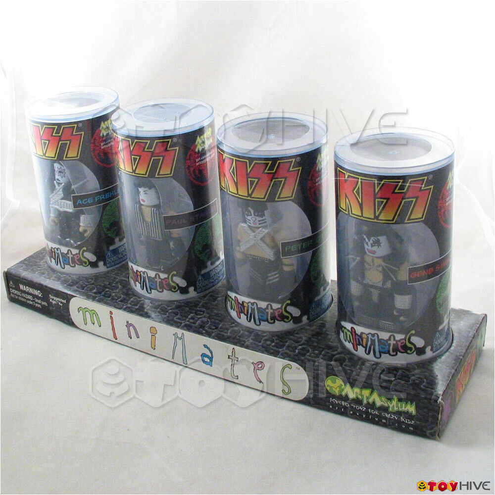 Kiss Minimates 4 figure set by Art Asylum 2002 inlcudes Ace, Gene, Peter & Paul