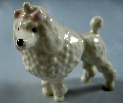 Old Hagen Renaker Thin Gray Standing Poodle