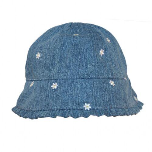 Girls Boy Children Kids Baby Denim Bucket Outdoors Sun Hat Cap Bonnet 0-12mths
