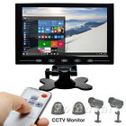 """9"""" TFT LCD CCTV PC Monitor Touch Button HD Screen HDMI Video Display w/ Speaker"""