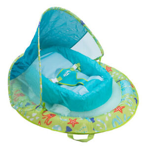 Details about SwimWays 11554 Infant Spring Float Inflatable Swimming Pool  Float with Canopy