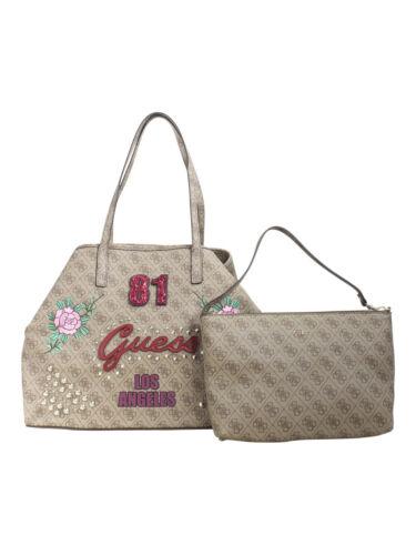 Guess Women/'s Vikky Large Brown Fashion /'81 Tote Handbag Set