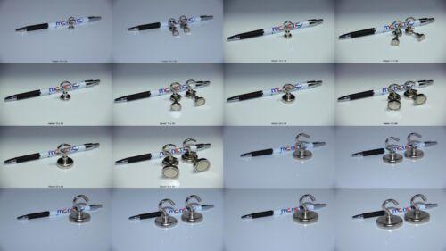 En néodyme crochet Aimants ösenmagnete 10 mm - 42 mm Tailles & exposé au choix fortement