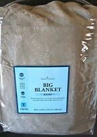 Home Classics Plush Big Blanket Throw khaki Size Twin 69 X 92 In Package