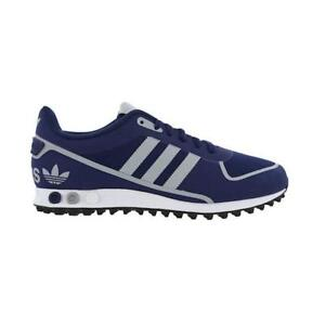 best service 6be31 a7d30 Image is loading Mens-ADIDAS-LA-TRAINER-II-Dark-Blue-Trainers-