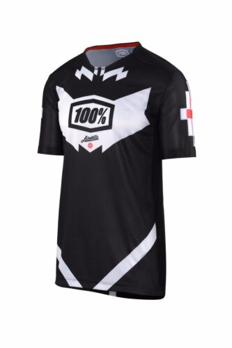 Black//White Short Sleeve Mountain Bike MTB 100/% Airmatic Jeromino Jersey