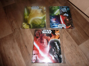 Romantique Star Wars Set Of 3 Metal Lucasfilm Disney Photo Frames 7 X 6 Brand New