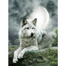 Moonlight Wolf 5D Full Drill Diamond DIY Embroidery Painting Cross Stitch Decors