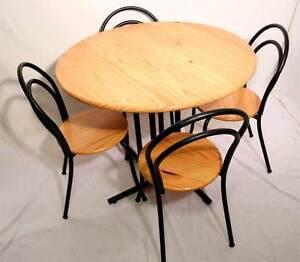 Toller Runder Tisch 4 Stuhle Bistro Garten Kief Ebay