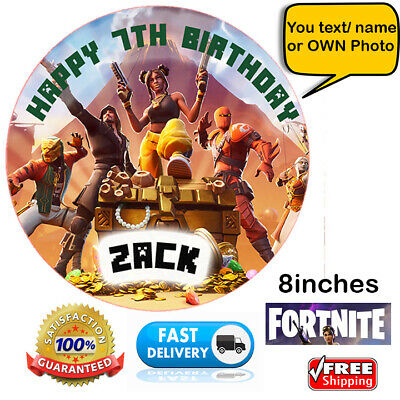 Fortnite Edible Personalised Cake Topper Wafer Paper Photo ...