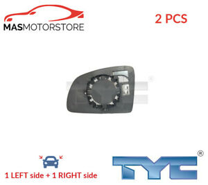 REAR VIEW MIRROR GLASS PAIR LHD ONLY TYC 325-0067-1 2PCS P FOR OPEL MERIVA