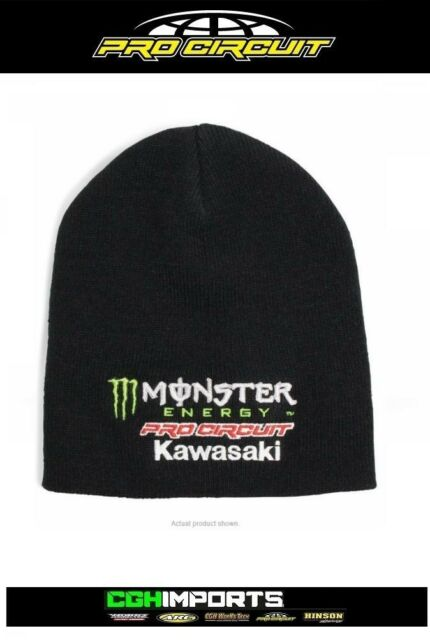 05333bfc96e584 Monster Energy Cap Team Kawasaki Pro Circuit Beanie MX Motocross KX ...