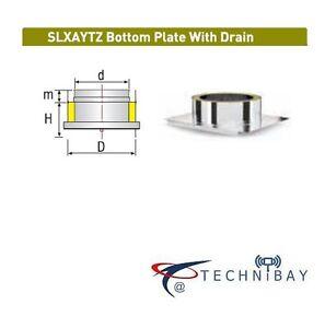 Solinox SLXAYTZ 300mm Bottom Plate Drain Chimney Flue Pipe Double