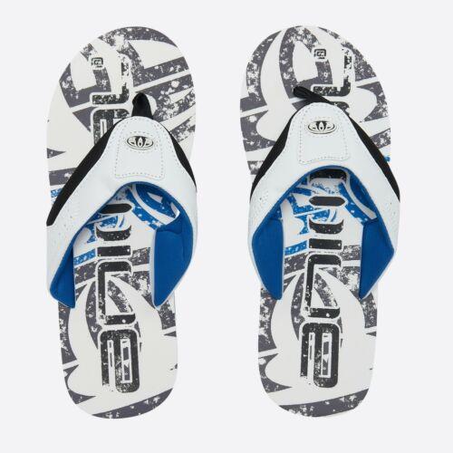 ANIMAL Homme Flip Flops New Jekyl Logo Blanc Soft Toe Post Tongs Sandales 9 S 7//1