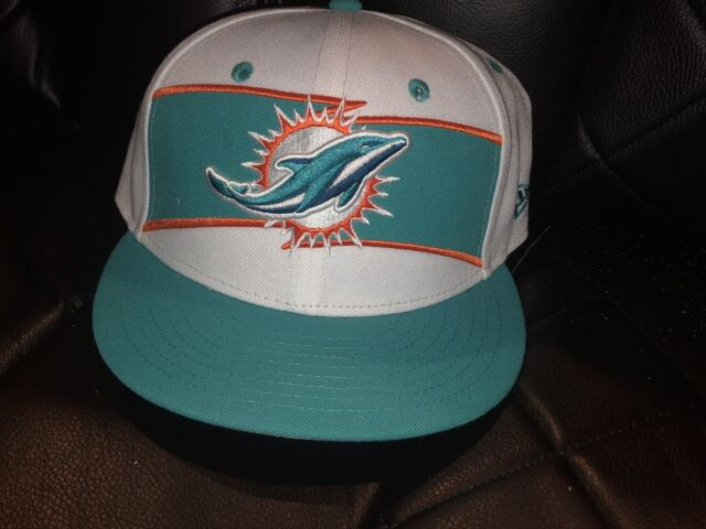 ff57eb2f Era Miami Dolphins Youth White 2018 NFL Sideline Color Rush 9fifty Snapback