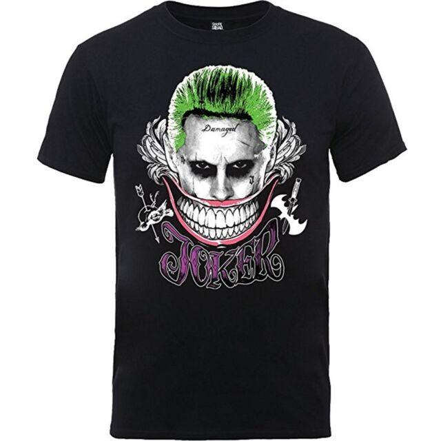 Suicide Squad Ladies Joker Smile T-shirt Black XXL