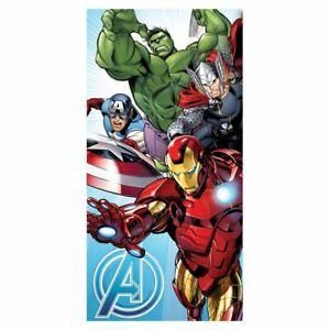 Marvel-Avengers-Serviette-Bain-Plage-100-Coton-Thor-Iron-Man-Hulk