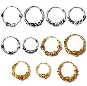 Creole-Earrings-Tribal-Balinese-Silver-Jewellery-or-Gold-Plated-of-Your-Choice