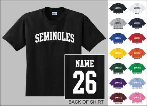 Seminoles Custom Name /& Number Personalized Youth Jersey T-shirt