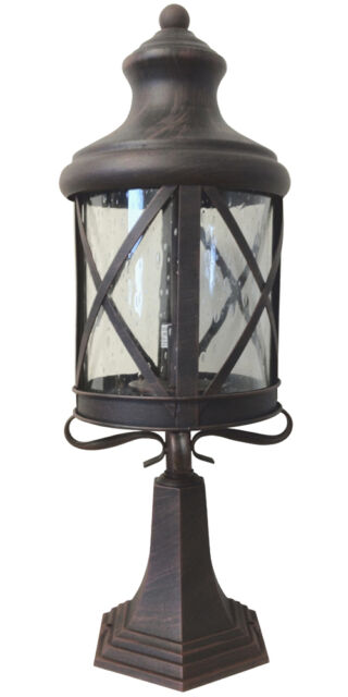 Aluminum Outdoor Exterior Lantern Wall Lighting Fixture Rusted  Sconce Hanging M