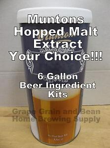 Muntons-Beer-Ingredient-Kits-Hopped-Beer-Kits-6-Gallon-Beer-Making-Ingredients