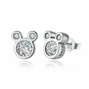 2c23f4456 Image is loading Disney-925-Sterling-Silver-Dazzling-Minnie-Mouse-Stud-