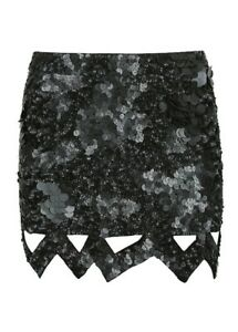 17c0820b9a Image is loading AJE-Catara-Barnacle-Mini-Skirt-Black-Size-8