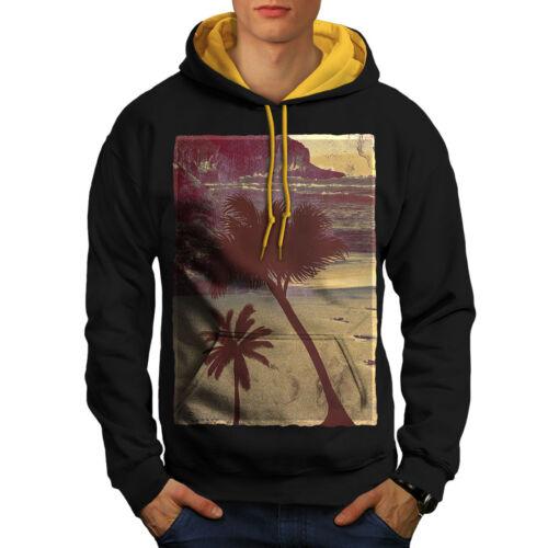 New cappuccio Beach Felpa Men Black a Summer cappuccio Time contrasto oro con wgS1gx