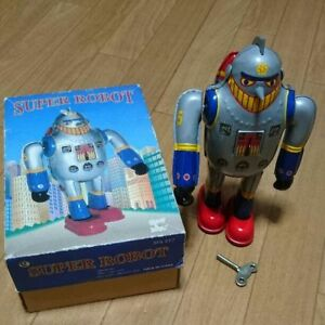 Extremely-Rare-Super-robot-tin-Toy-spinning-robot-From-JAPAN-Free-shipping