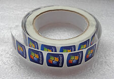 Lot of 10 Original Windows 7 Replacement Stickers 18mm x 18mm For Laptop