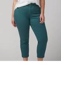 0e9b95705ad LANE BRYANT size 18 turquoise blue capri crop pants cotton NWOT ...