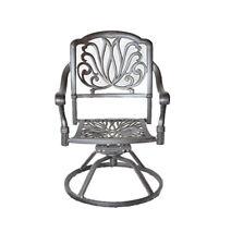 Outdoor Patio Dining Chairs Swivel Rocker Cast Aluminum Seat Elisabeth Bronze
