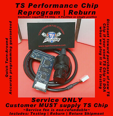 TS PERFORMANCE 1180407 6 POSITION CHIP FORD POWERSTROKE 7.3 2000 MANUAL DAC