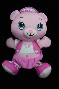 Fisher-Price-Pink-Rose-DOODLE-BEAR-Plush-Stuffed-Animal-Toy-Drawing-Art-Doll