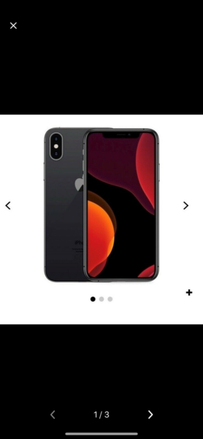 iPhone X, 256 GB, sort, Perfekt, iPhone x 256gb 1 år gammel…