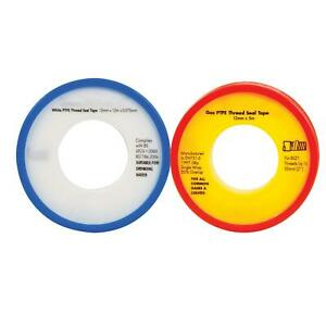 2-Pack-PTFE-Tape-Gas-amp-Water-tape-for-Thread-Seal-White-Teflon-tape-1-of-each