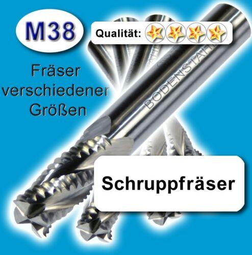 Alu Messing Kunstst Schruppfräser 16mm Z=4 f hochlegierte Qualität M38