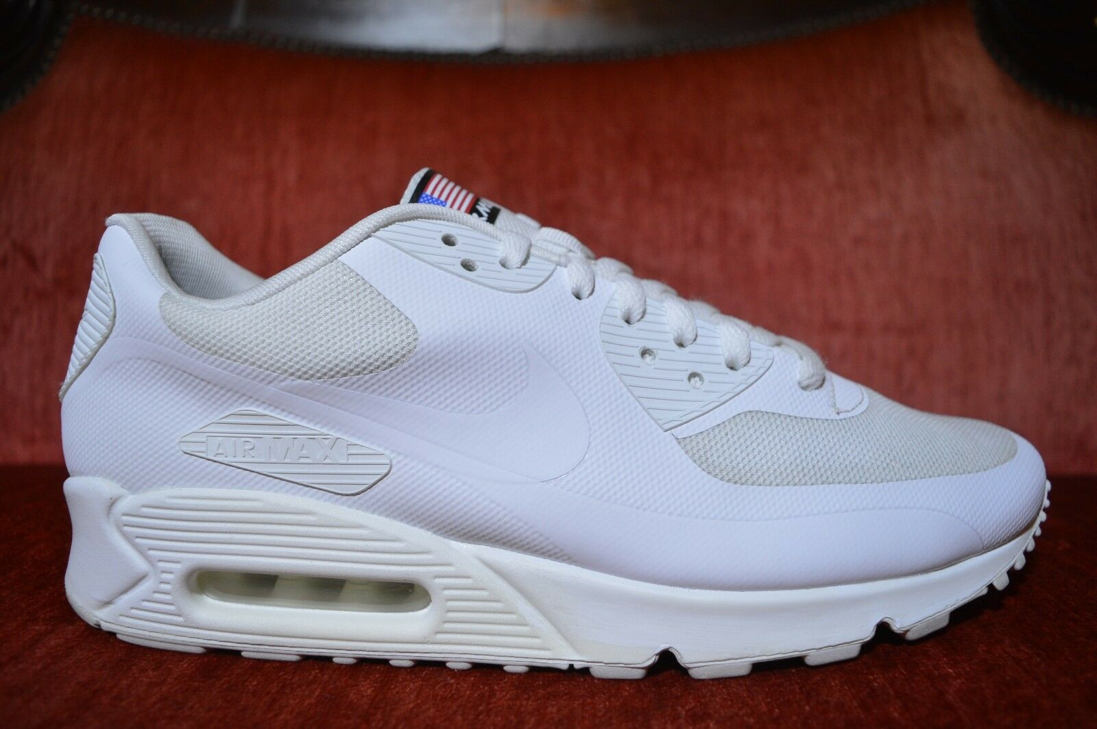 VNDS NIKE AIR MAX 90 HYP HYPERFUSE QS  USA  WHITE WHITE 613841-110 Size 11