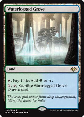 English -BFG- MTG Magic Waterlogged Grove 1x x1 Modern Horizons Near Mint